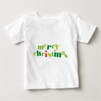 merry christmas modern typography baby T-Shirt