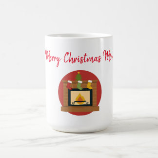 Merry Christmas Mom Fireplace Magic Mug