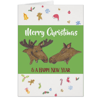 Merry Christmas Moose Card