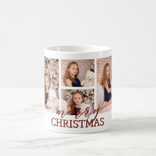 Merry Christmas multi photo MUG gift idea