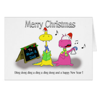 Merry Christmas mum and dad Greeting Card