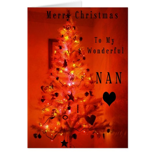 Merry Christmas Nan Card