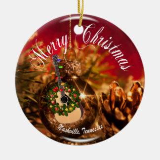 Merry Christmas Nashville Ornament RD