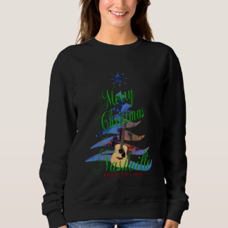 Merry Christmas Nashville Women's Dark Sweatshirt