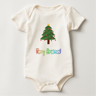 Merry Christmas Neon Rainbow Baby Bodysuit