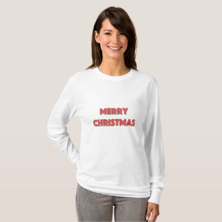 Merry Christmas Neon Red T-Shirt