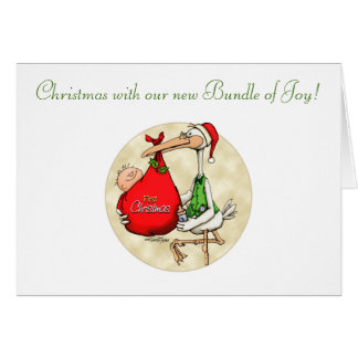 Merry Christmas - New Baby Greeting Card