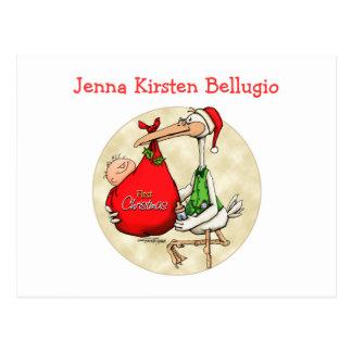 Merry Christmas - New Baby Postcard