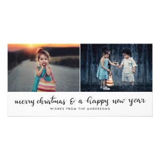Merry Christmas New Year Handwritten Script Card
