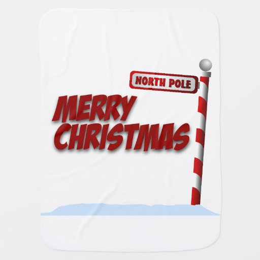 Merry Christmas North Pole Baby Blanket