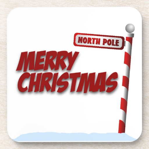 Merry Christmas North Pole Coaster