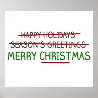 Merry Christmas, Not Season's Greetings Poster