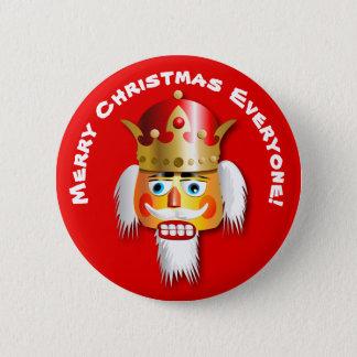 Merry Christmas Nutcracker King Cartoon 6 Cm Round Badge