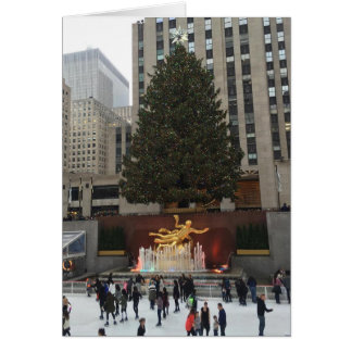 Merry Christmas, NYC Rockefeller Center Skaters Greeting Card