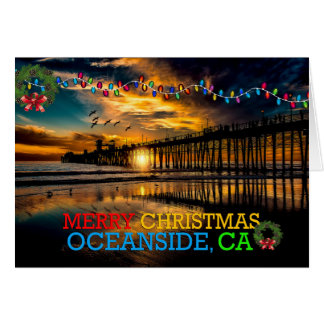Merry Christmas Oceanside, CA Card