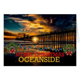Merry Christmas Oceanside Card