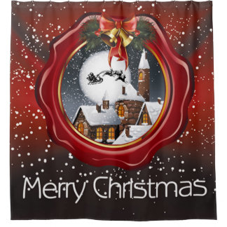 Merry Christmas Olden Days Shower Curtain