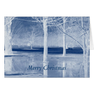 Merry Christmas on Ice Greeting Card