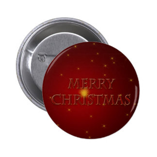 Merry Christmas on Red Satin Pins