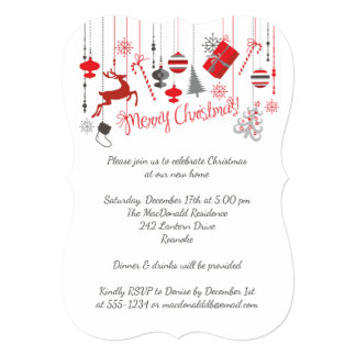 Merry Christmas Open House Invitation