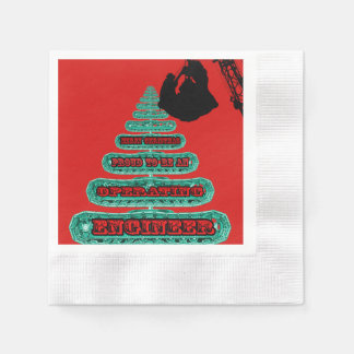 MERRY CHRISTMAS OPERATING ENGINEER CRANE OPERATOR DISPOSABLE NAPKINS