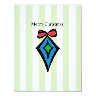 Merry Christmas Ornament 4.25 X 5.5 Invitation