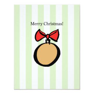 Merry Christmas Ornament 4.25 x 5.5 Invite Green