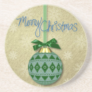 Merry Christmas Ornament Coasters