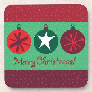 Merry Christmas Ornament Coaster Set