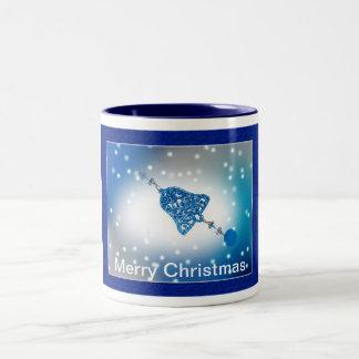 Merry Christmas Ornament Customizable Two-Tone Coffee Mug