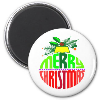 Merry Christmas Ornament Magnets