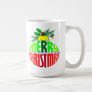 Merry Christmas Ornament Coffee Mugs