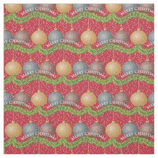 Merry Christmas ornaments Fabric