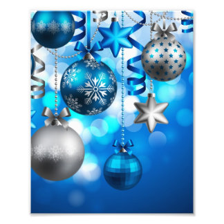 Merry Christmas Ornaments Art Photo