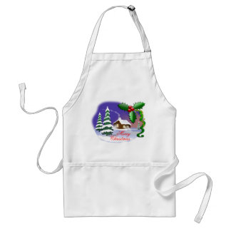 Merry Christmas Outdoors Standard Apron