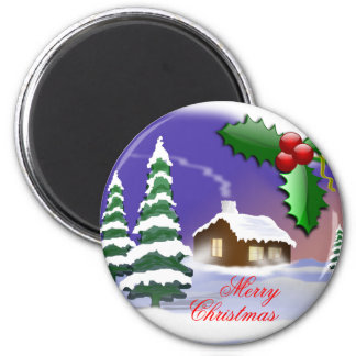 Merry Christmas Outdoors Magnets