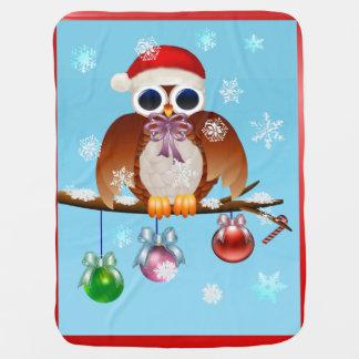 Merry Christmas Owl Baby Blanket