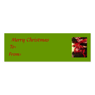 Merry Christmas Pack Of Skinny Business Cards