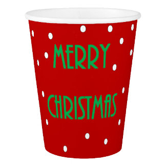 Merry Christmas Paper Cups