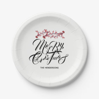 Merry Christmas - Paper Plate