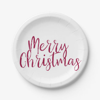 Merry Christmas Paper Plates