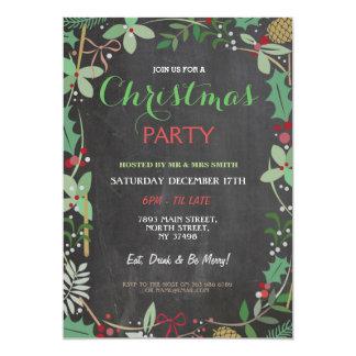 Merry Christmas Party Chalk Mistletoe Xmas Invite