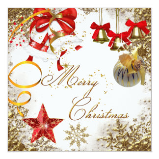 Merry Christmas Party White Xmas Snow Invitation