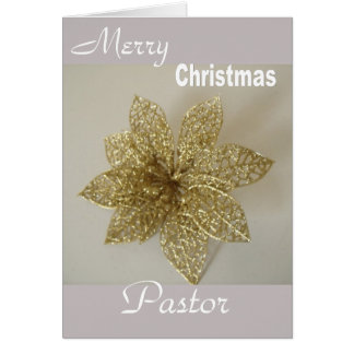 Merry Christmas Pastor Card