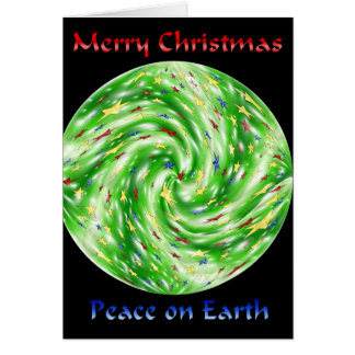 Merry Christmas Peace on Earth Greeting Card