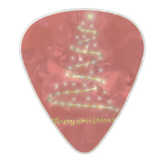 Merry Christmas Pearl Celluloid Guitar Pick