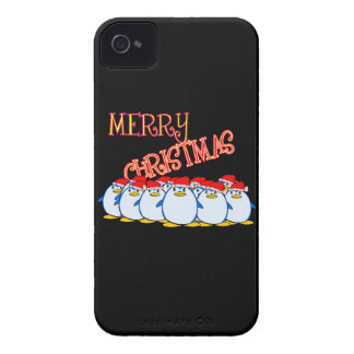 Merry Christmas Penguin Blackberry Phone Case iPhone 4 Case-Mate Cases