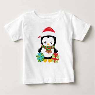 Merry Christmas Penguin illustration Baby T-Shirt