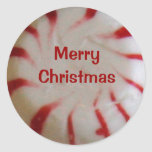 Merry Christmas Peppermint Candy Sticker
