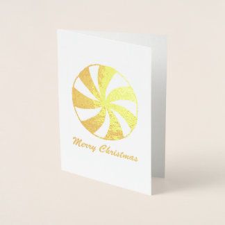 Merry Christmas Peppermint Starlight Mint Candy Foil Card